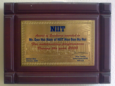 NIIT's award